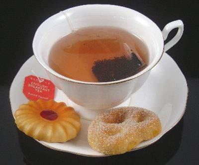 Hot Tea with Cookies