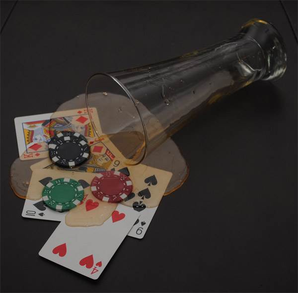 Beer Glass Spill (Poker Theme)
