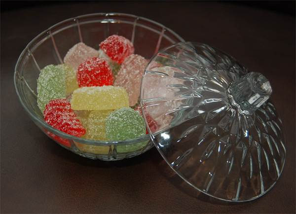 Candy Dish with Fake Candy