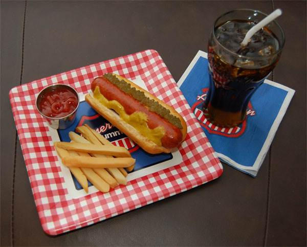 Hot Dog & Drink Set (everything included)