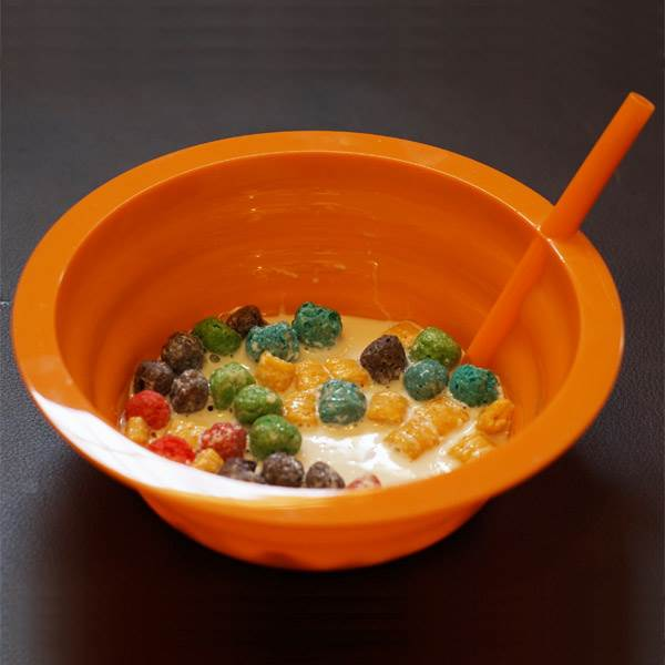 Kids Cereal Bowl (Orange)
