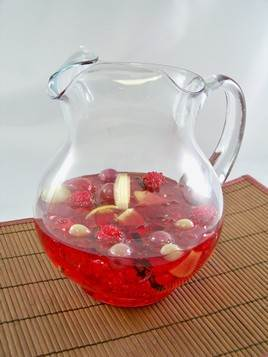 Sangria Pitcher with Floating Fruit