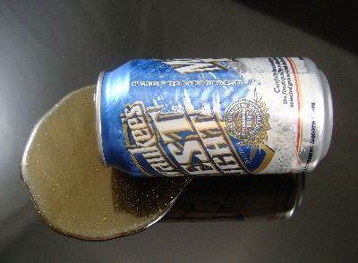 Spilled Beer Can