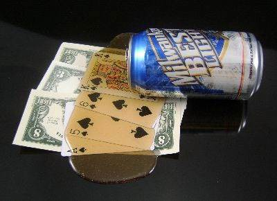 Spilled Beer Can (Poker)